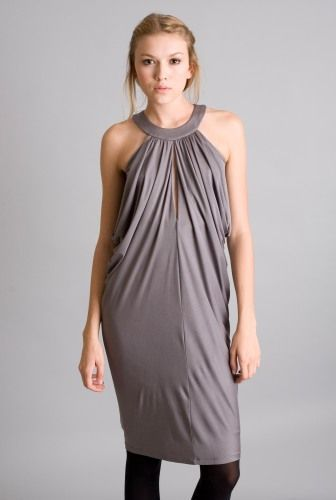Laila Azhar Side Drape Dress