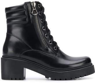 Moncler zip side cargo boots