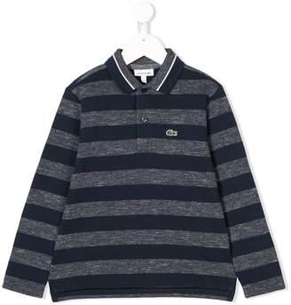 Lacoste Kids striped polo shirt