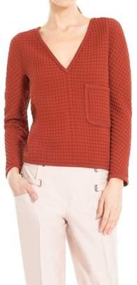 Max Studio Pique V-necked Pullover