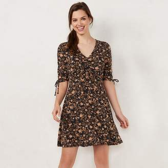 Lauren Conrad Petite Print Fit & Flare Dress
