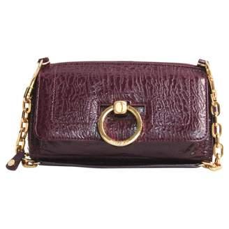 Jimmy Choo Burgundy Leather Clutch bag