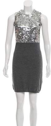 RED Valentino Sequin-Embellished Wool Dress