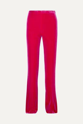 Miu Miu Stretch-velvet Flared Pants - Pink