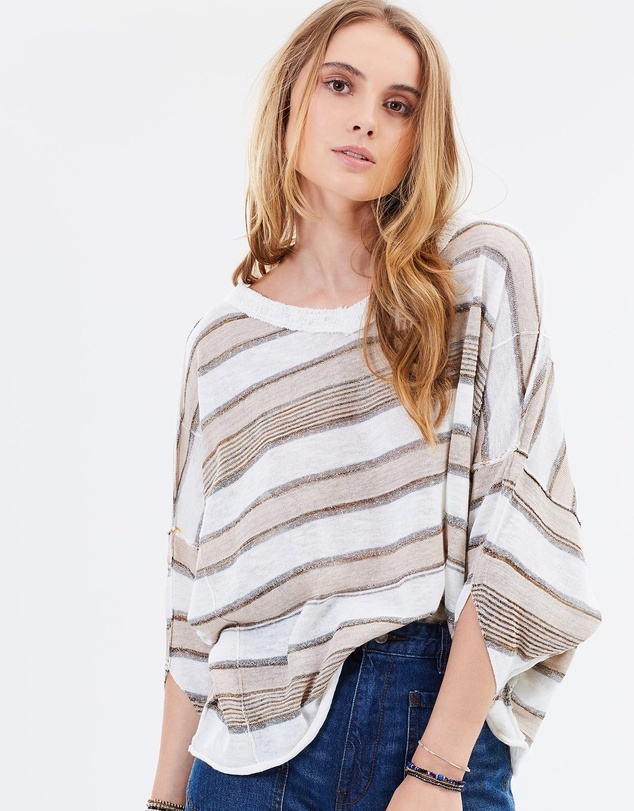 Free People Love Me Too V-Neck Top