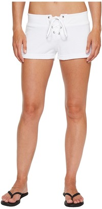Hard Tail - Lace Front Terry Shorts Women's Shorts $70 thestylecure.com