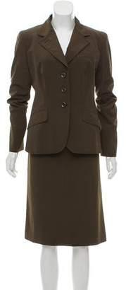 Prada Three-Button Skirt Suit