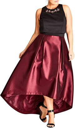 City Chic Regal Me Charmeuse Ballgown