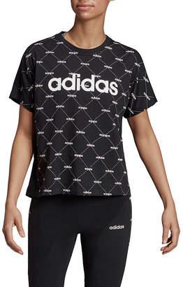 adidas Core Favorite Tee-Womens Crew Neck Short Sleeve T-Shirt