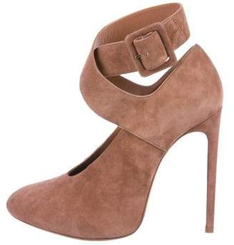 Alaia Suede Round-Toe Pumps w/ Tags
