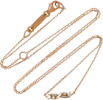 Suzanne Kalan Diamond Bar 18K Rose Gold Necklace