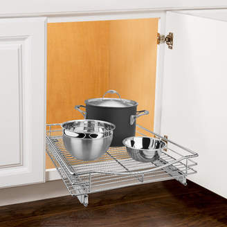 Lynk Roll Out Cabinet Organizer - Pull Out Drawer - Under Cabinet Sliding Shelf - 17 W x 18 D - Chrome