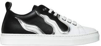 DSQUARED2 Flames Leather Sneakers