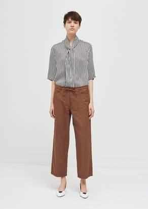 Hache Cotton Linen Drawstring Pant