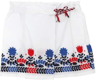 Ermanno Scervino Embroidered Cotton Poplin Shorts