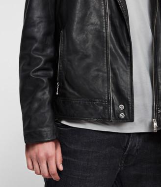 dad1b281e Mens Studded Leather Jacket - ShopStyle UK