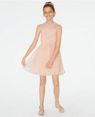 Sequin Hearts Big Girls Lace & Mesh Dress