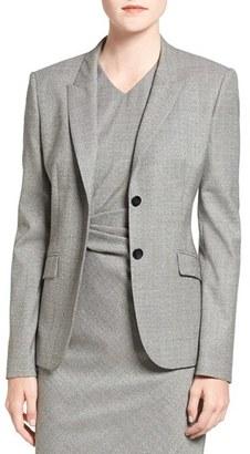 Women's Boss 'Julea 1' Stretch Wool Suit Jacket $595 thestylecure.com