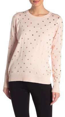 Romeo & Juliet Couture Printed Long Sleeve Sweater
