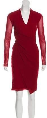 Fuzzi Draped Knee-Length Dress