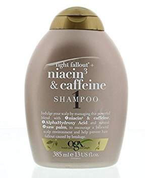 OGX Anti-Hair Fallout with Niacin and Caffeine Shampoo, 385 ml