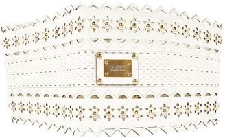 Roberto Cavalli White Leather Belts