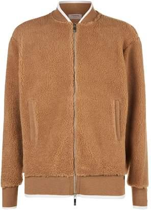 Thom Browne Camel-Silk Bomber Jacket