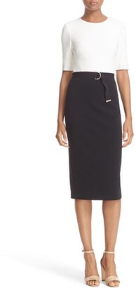 Women's Ted Baker London 'Wandee' Colorblock D-Ring Sheath Dress $315 thestylecure.com