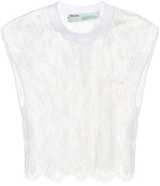 Off-White Off White Lace crop top