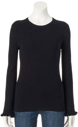 Women's ELLETM Ruffle Crewneck Sweater $48 thestylecure.com
