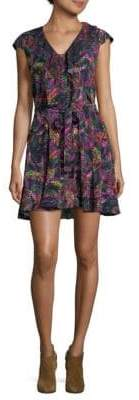 Saloni Printed Fit-&-Flare Dress