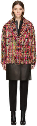 Alexander McQueen Multicolor Tweed Wishing Tree Cocoon Coat