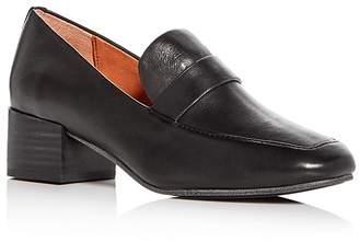 Gentle Souls Women's Eliot Leather Block Heel Loafers