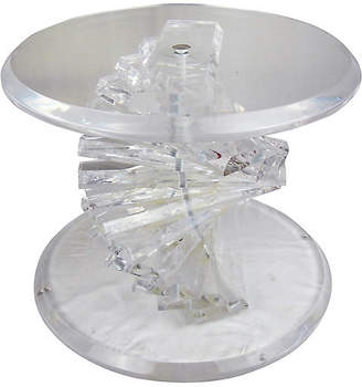 One Kings Lane Vintage 1970s Lucite Helix Twist Side Table - Acquisitions Gallerie
