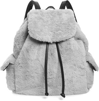 Yoki Bags Faux Fur Oversized Utility Backpack