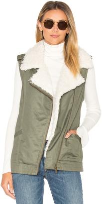 Sanctuary Alexis Faux Fur Trimmed Vest $159 thestylecure.com