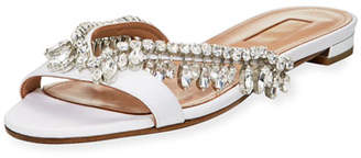 Aquazzura Gem Palace Flat Slide Sandal