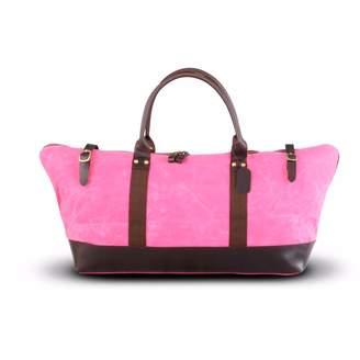 EAZO - Waxed Canvas & Leather Weekend Bag Pink