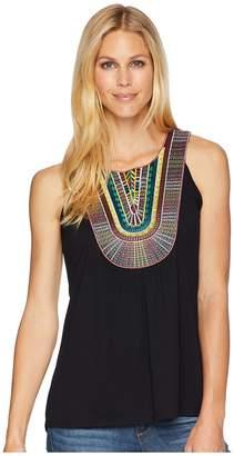 Wrangler Sleeveless Top with Multicolor Applique Women's Sleeveless