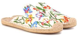 Tory Burch Max printed espadrille slides