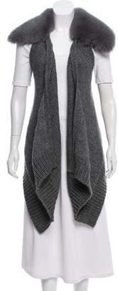 Kaufman Franco KAUFMANFRANCO Fur-Trimmed Wool-Blend Vest