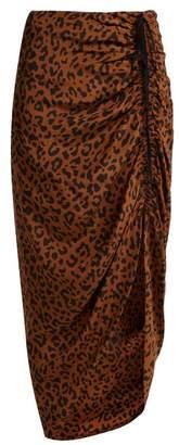 Diane von Furstenberg Heyford Leopard Print Silk Skirt - Womens - Animal