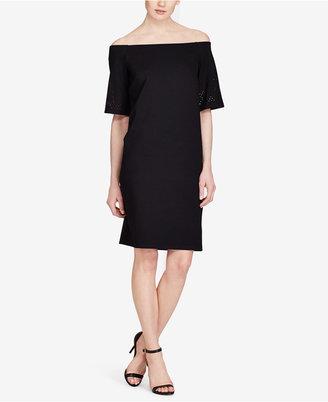 Lauren Ralph Lauren Off-The-Shoulder Ponte Dress $145 thestylecure.com