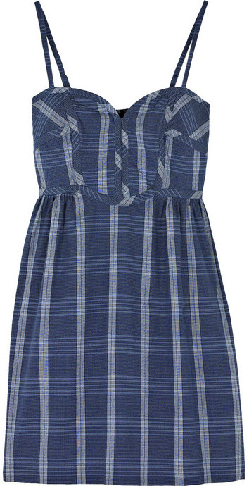 Aubin & Wills Leventhorpe checked cotton dress