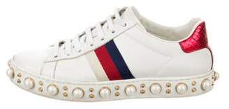 7b1acf9ea Gucci Pearl Sneakers - ShopStyle