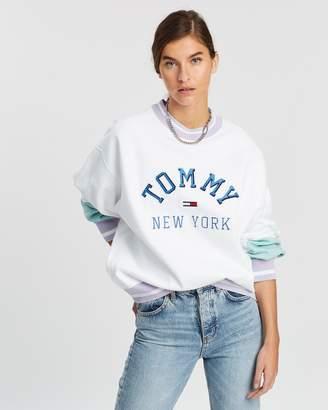 Tommy Jeans Pastel Colour-Block Crew Sweatshirt