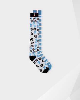 Hunter Unisex Original Flower And Stripe Print Knee High Socks