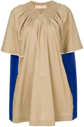 Marni pleated ruched blouse