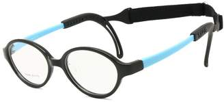 EnzoDate Children Glasses Frame Size 43 with Ear Grips Strap Nose Pad Flexible Bendable