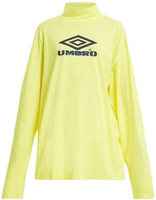 Vetements X Umbro long-sleeved cotton-jersey top